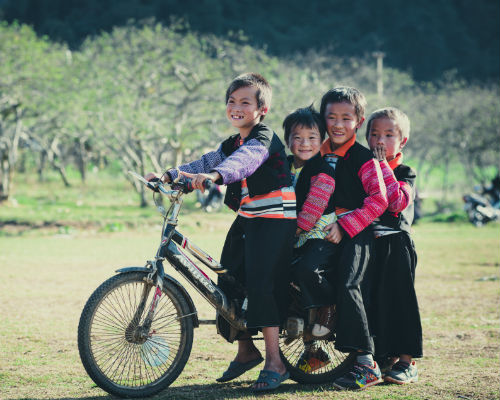 børn i Vietnam