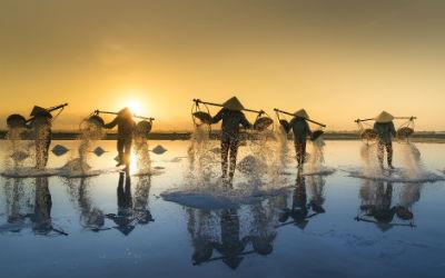 Lokale fiskere i Vietnam