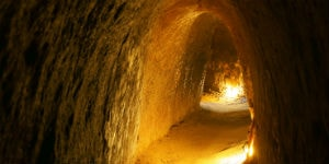 Cu Chi tunnellerne er flere kilometer lange
