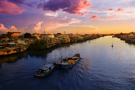 Det sydlige Vietnam er ofte regnfuldt, varmt og fugtigt