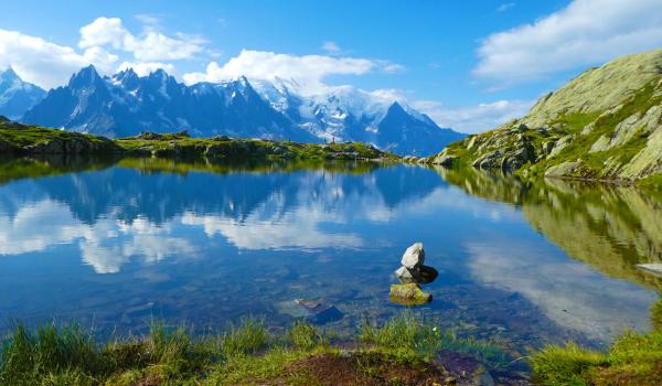 Ved Chamonix nær Mont Blanc finder man mange smukke naturomgivelser