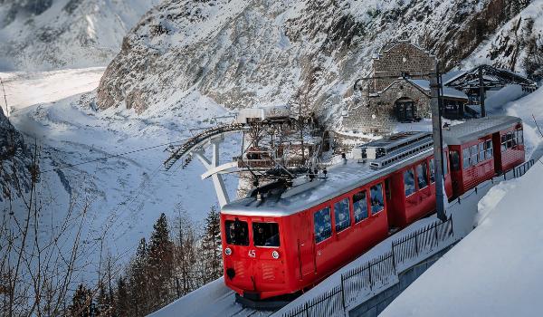 Togtur med Mont Blanc Tramway