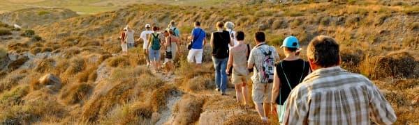 Tag på trekkingrejse i Grækenland