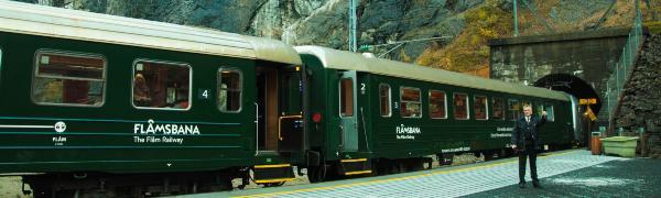 Tag på togrejse til Norge