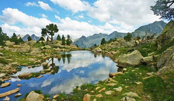 Tag på vandring på Pyrenæerne