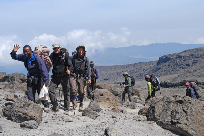Dygtige guider paa Kilimanjaro trek