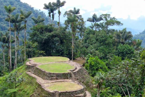 Ciudad Perdida er et populært stop på Kiplings trekking ruter i Colombia