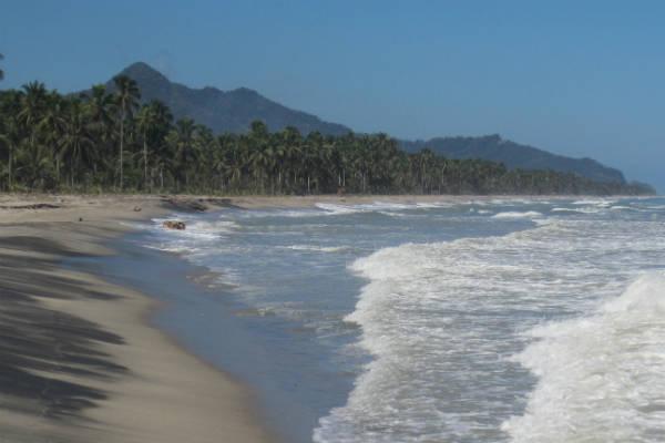 Strandende på colombia er meget smukke