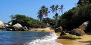 Klimaet ved kysten i Colombia er varmt