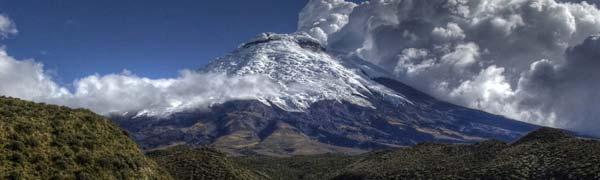 Tag på bjergbestigning i Ecuador
