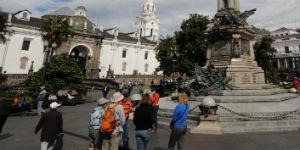 Der er mange smukke monumenter i Quito