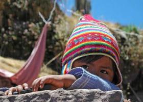 Barn i Peru i Sydamerika