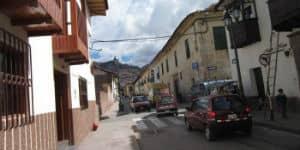 Gade i Cuzco i Peru