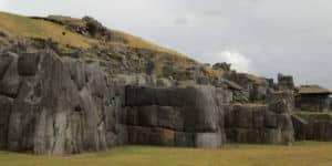Ruin i Cuzco i Peru