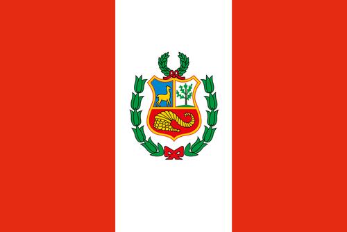 Perus flag er rødt og hvidt
