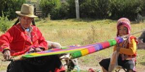 Klimaet er køligt i den hellige dal i Peru