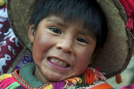 Her ses en dreng fra Lima i Peru